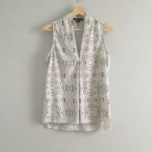 Nine West business casual print blouse